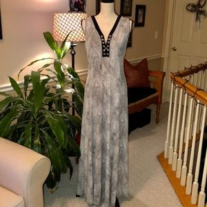 Michael Kors maxi dress with silver chain tie